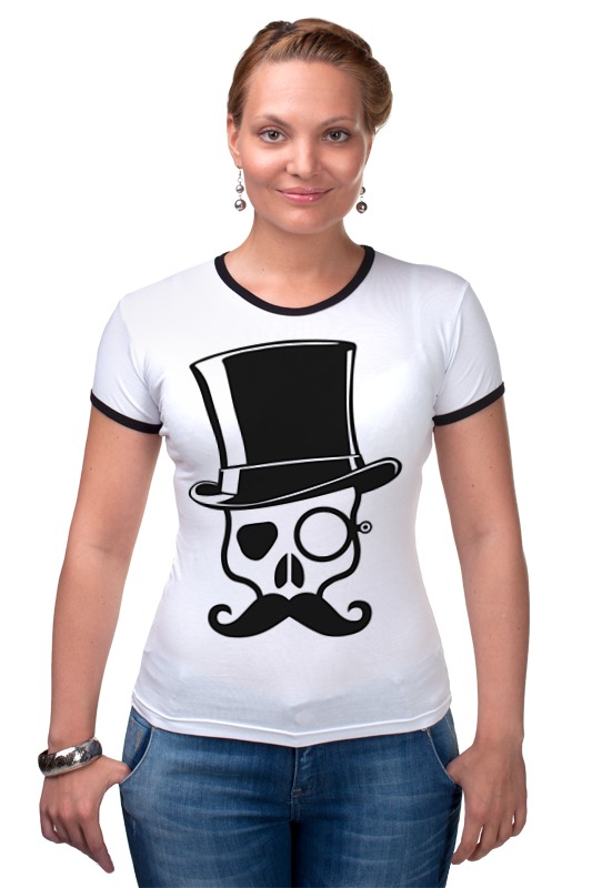 Футболка Рингер Printio Череп (skull) футболка рингер printio череп