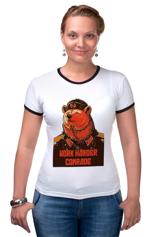 Футболка Рингер Printio Comrade comrade r8