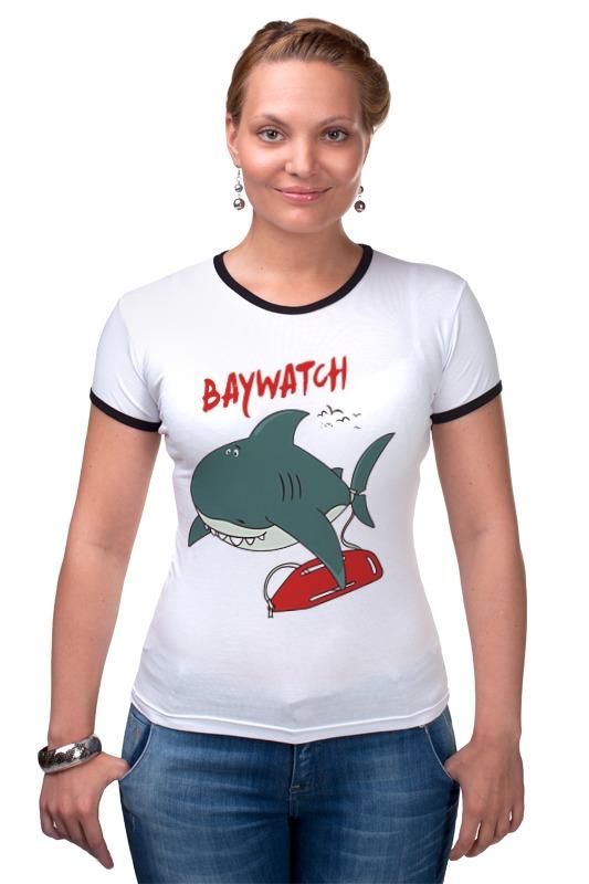 Футболка Рингер Printio Акула (baywatch) футболка рингер printio акула