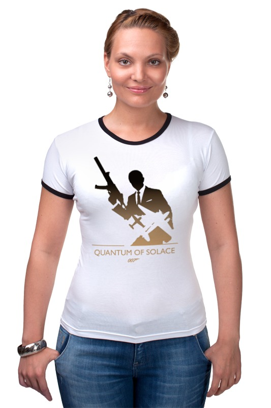 Футболка Рингер Printio 007: квант милосердия квазиэлектронная атс квант