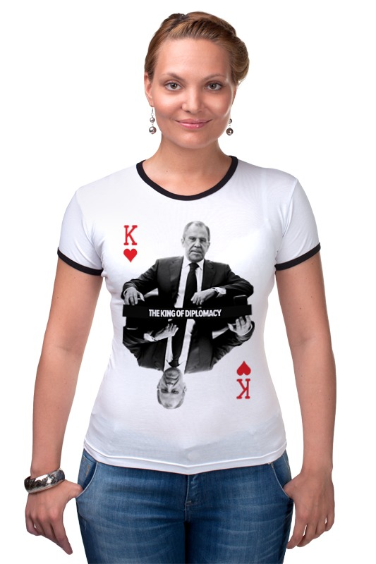 Футболка Рингер Printio Король дипломатии by design ministry футболка рингер printio spb t shirt by design ministry