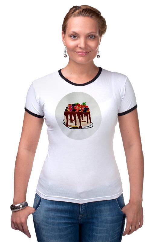 Футболка Рингер Printio Тортик футболка для беременных printio тортик