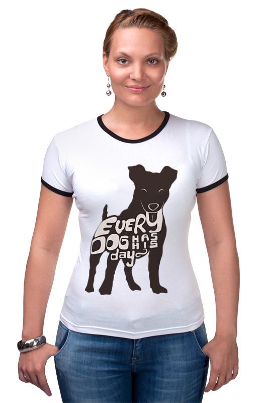 Футболка Рингер Printio Happy dog сумка printio gta 5 dog