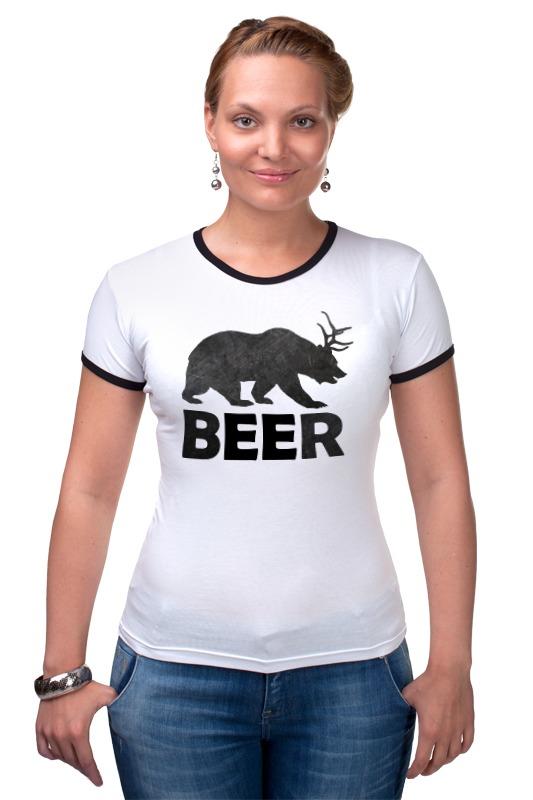 Футболка Рингер Printio Beer (bear) лонгслив printio bear beer медведь и мед