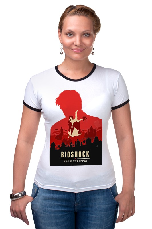 Футболка Рингер Printio Bioshock - букер девитт футболка рингер printio война никогда не меняется