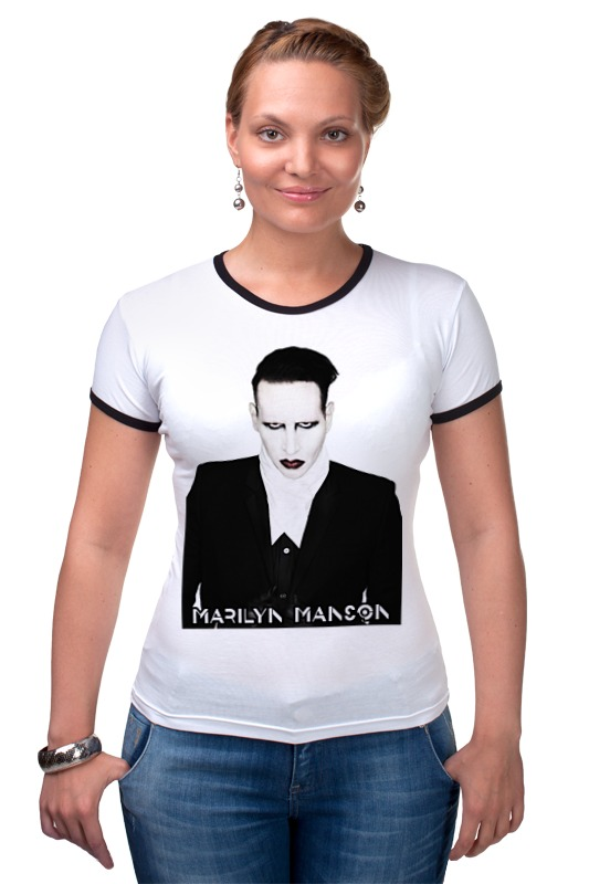 Футболка Рингер Printio Marilyn manson футболка рингер printio авто уаз