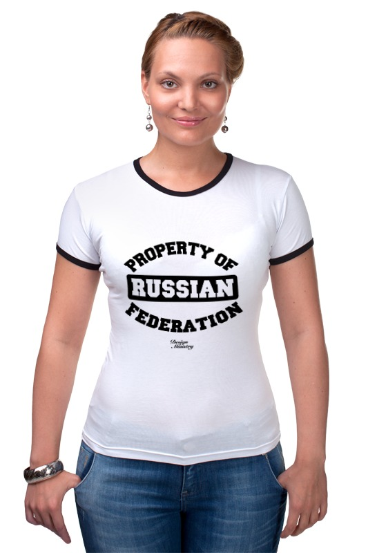 Футболка Рингер Printio Property of russian federation