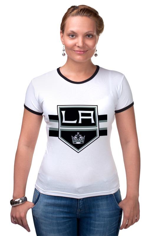 Футболка Рингер Printio Лос-анджелес кингс футболка wearcraft premium printio los angeles kings nhl usa