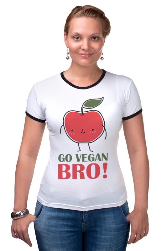 Футболка Рингер Printio Go vegan bro! женские часы go girl only go 694923