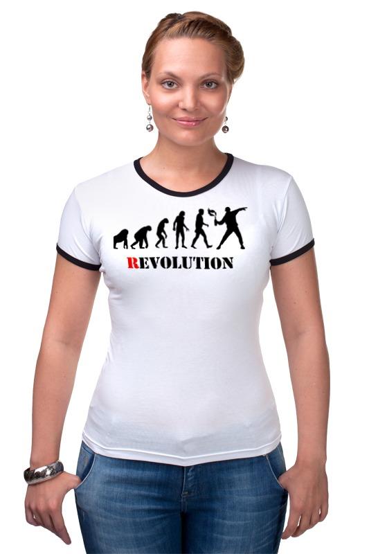 Футболка Рингер Printio Evolution - revolution футболка рингер printio evolution  1