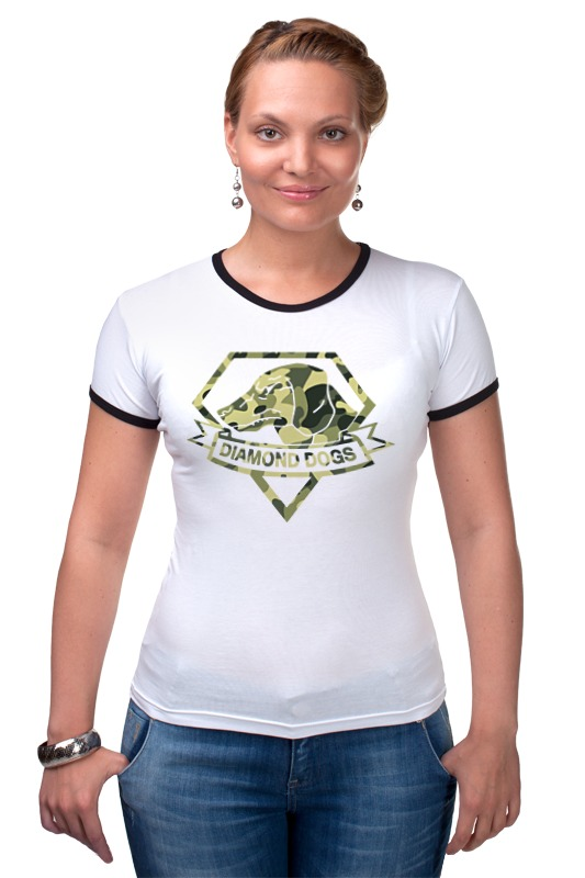 Футболка Рингер Printio Diamond dogs (metal gear solid)