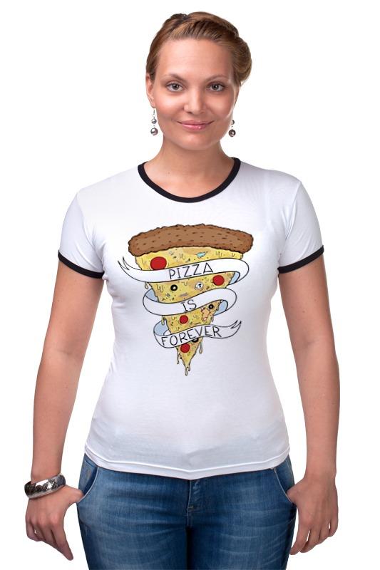Футболка Рингер Printio Пицца навсегда (pizza forever) сумка printio пицца навсегда pizza forever
