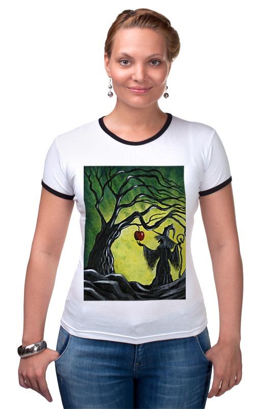 Футболка Рингер Printio Заколдованное яблоко футболка с полной запечаткой для девочек printio заколдованное яблоко