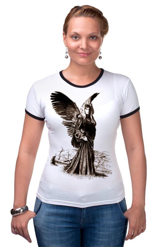 Футболка Рингер Printio Прекрасный ангел россия дорожная икона ангел хранитель