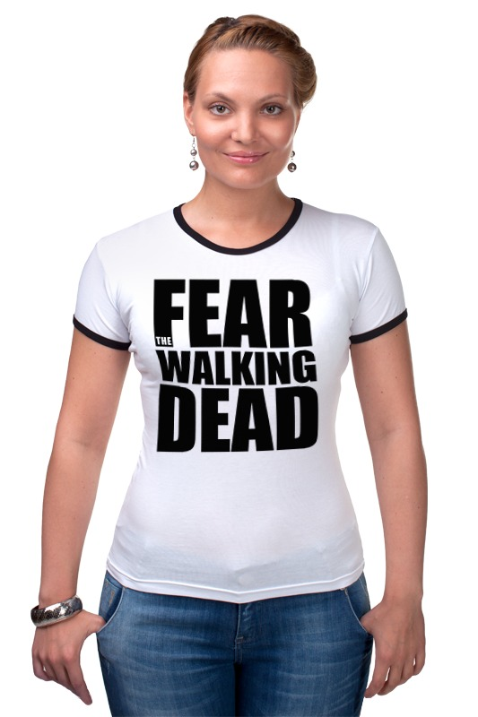 Футболка Рингер Printio Fear the walking dead the march against fear