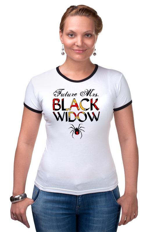 Футболка Рингер Printio Черная вдова