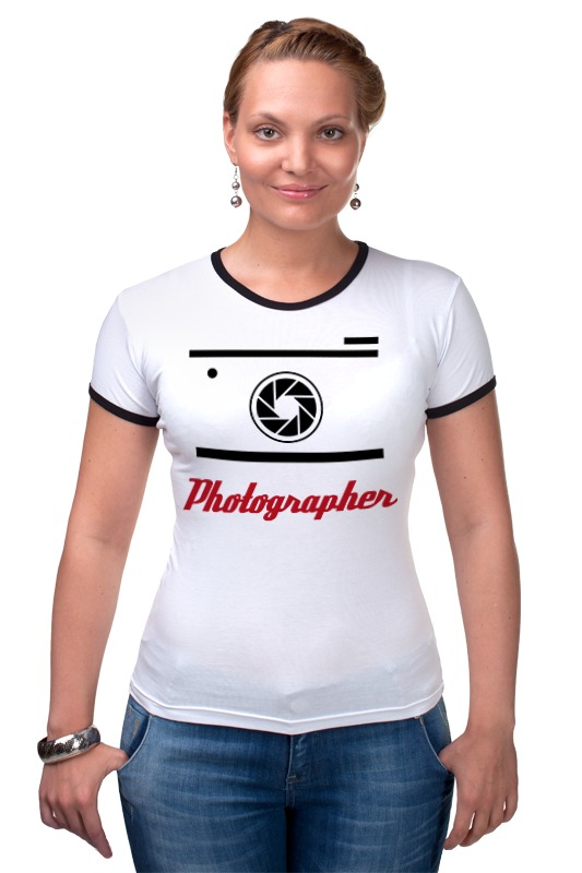 Футболка Рингер Printio Фотограф футболка рингер printio спиннер