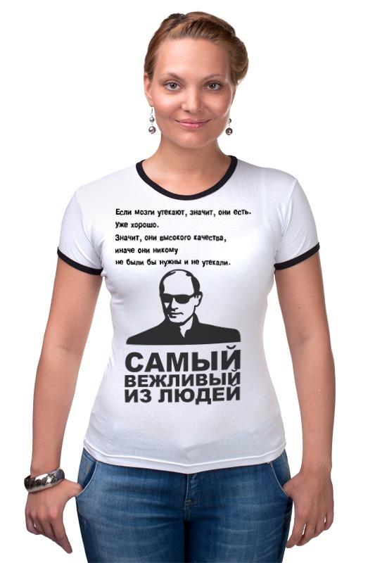 Футболка Рингер Printio Путин футболка рингер printio дик трэйси