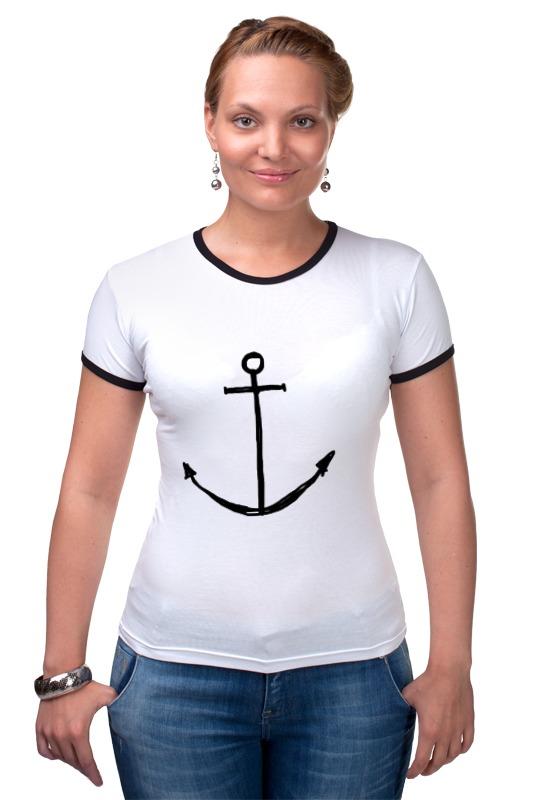 Футболка Рингер Printio Якорь футболка для беременных printio держись сильнее за якорь