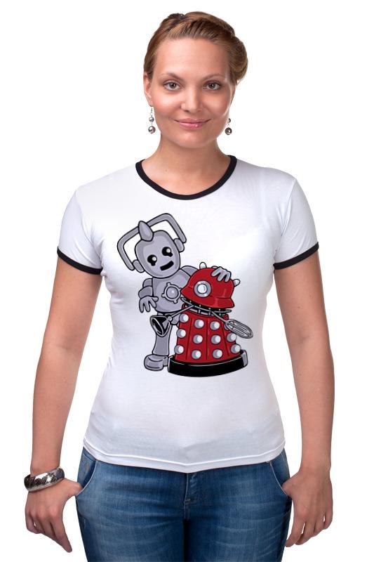 Футболка Рингер Printio Кибермен и далек (доктор кто) футболка рингер printio доктор кто doctor who