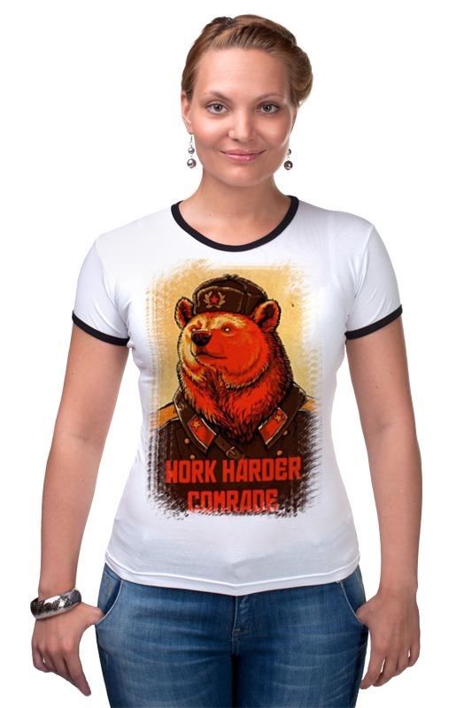 Футболка Рингер Printio Comrade bear comrade r6