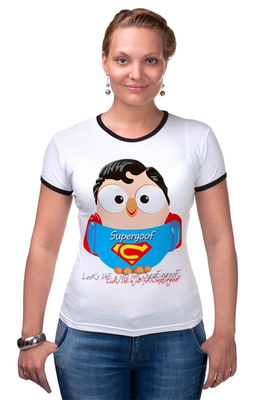 Футболка Рингер Printio Сова супермен суперсова goofi сумка printio сова супермен суперсова goofi