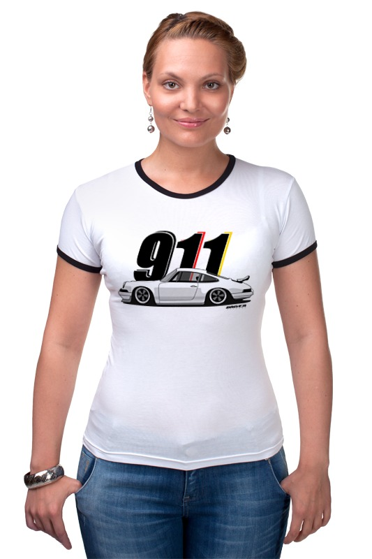 Футболка Рингер Printio Porsche carrera 911 купить юбку бампера порше 911
