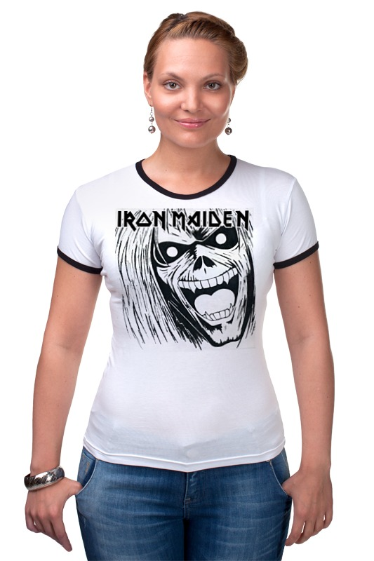 Футболка Рингер Printio Iron maiden band cd iron maiden a matter of life and death