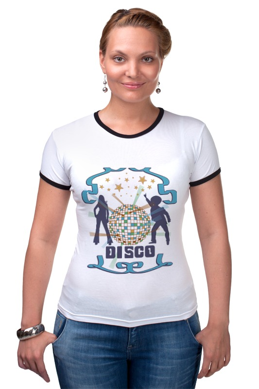 Футболка Рингер Printio Диско dreamgirl светящееся диско платье