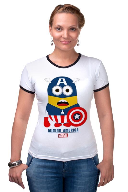 Футболка Рингер Printio Minion america футболка рингер printio авто уаз