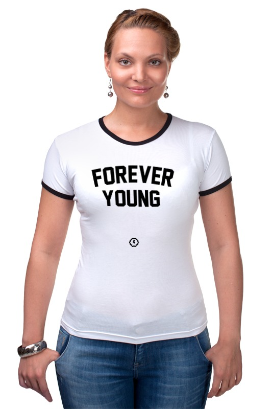 Футболка Рингер Printio Forever young by brainy roxy футболка forever young b