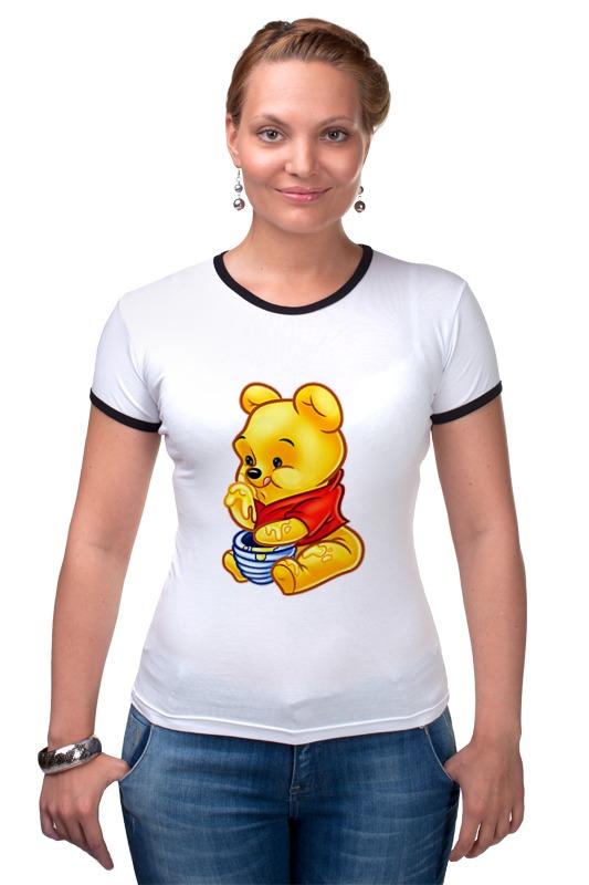 Футболка Рингер Printio Винни-пух disney гирлянда детская подвески спиральные с днем варенья медвежонок винни