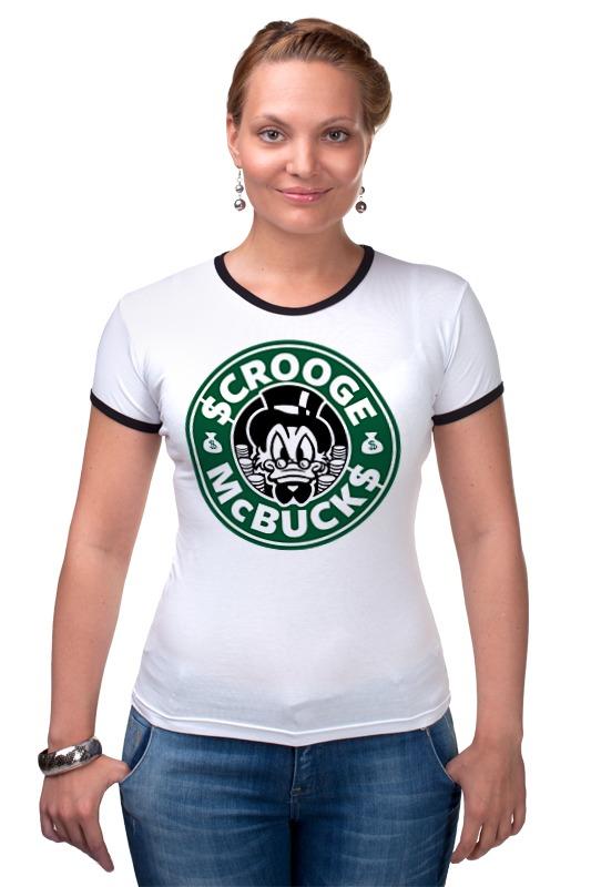 Футболка Рингер Printio Scrooge mcbucks (starbucks) футболка рингер printio belles book cafe starbucks