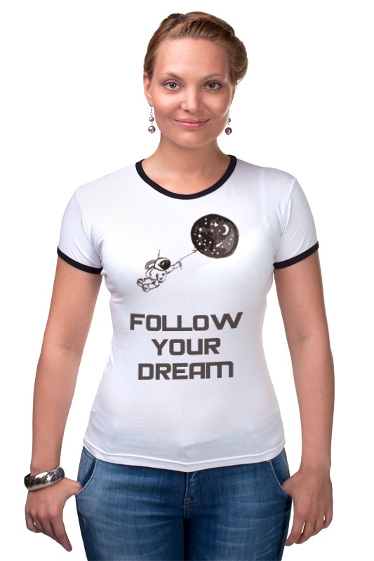 Футболка Рингер Printio Follow your dream