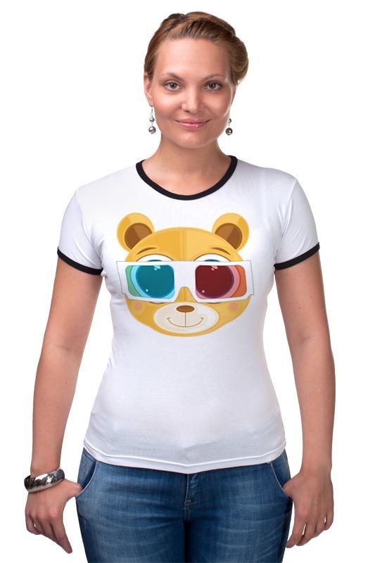 Футболка Рингер Printio Медведь 3д набор для объемного 3д рисования feizerg fsp 001 фиолетовый