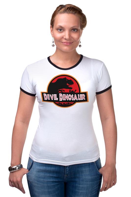 Футболка Рингер Printio Дьявол динозавр (парк юрского периода) футболка рингер printio парк юрского периода