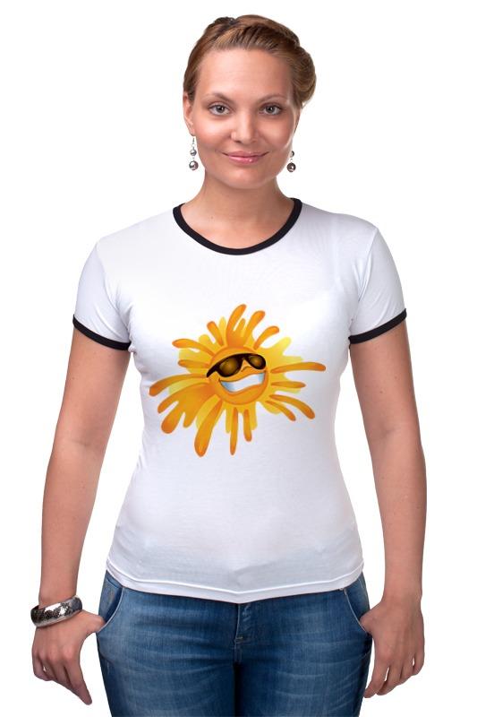 Футболка Рингер Printio Солнце футболка рингер printio оранжевое солнце