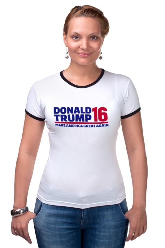 Футболка Рингер Printio Trump - america great