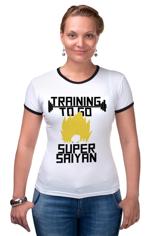 Футболка Рингер Printio Training to go super saiyan футболка wearcraft premium slim fit printio training to go super saiyan