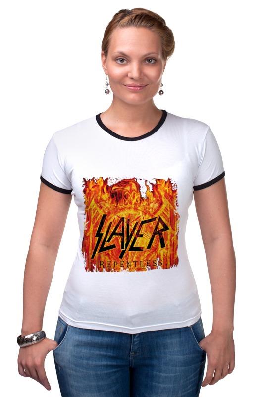 Футболка Рингер Printio Slayer repentless 2015 футболка с полной запечаткой мужская printio slayer repentless 2015 3