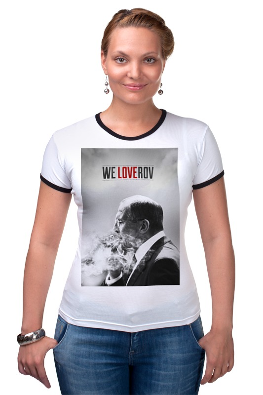 Футболка Рингер Printio We loverov by design ministry футболка рингер printio spb t shirt by design ministry