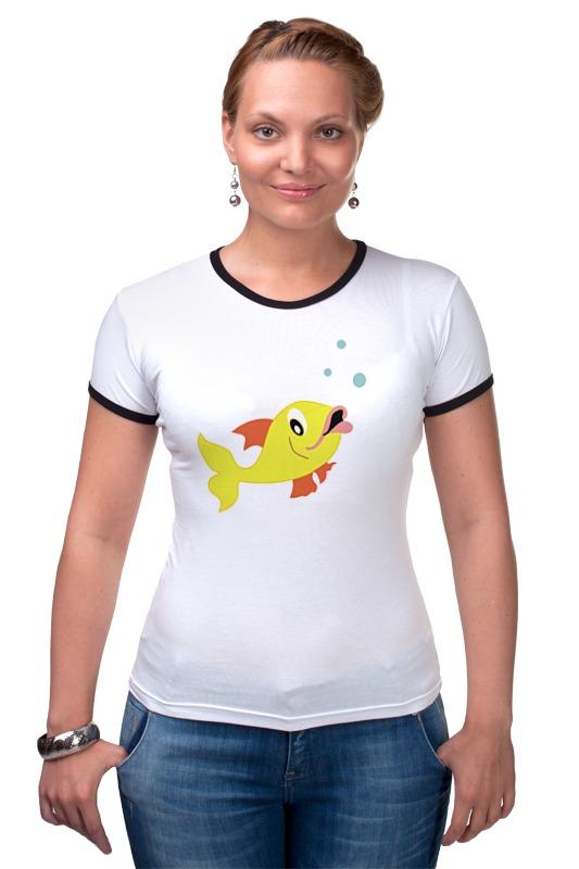Футболка Рингер Printio Рыбка футболка рингер printio золотая рыбка