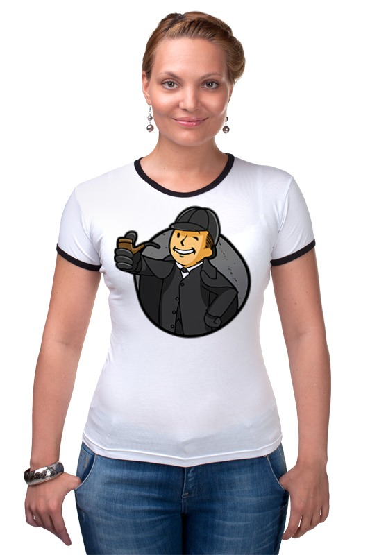 Футболка Рингер Printio Шерлок (фэллаут) футболка классическая printio fallout фэллаут