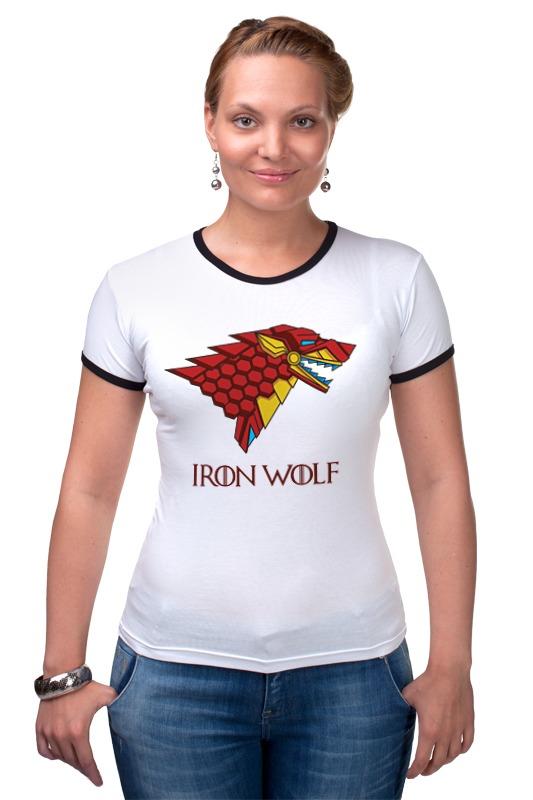 Футболка Рингер Printio Iron wolf (stark x iron man) футболка классическая printio stark bucks coffee iron man