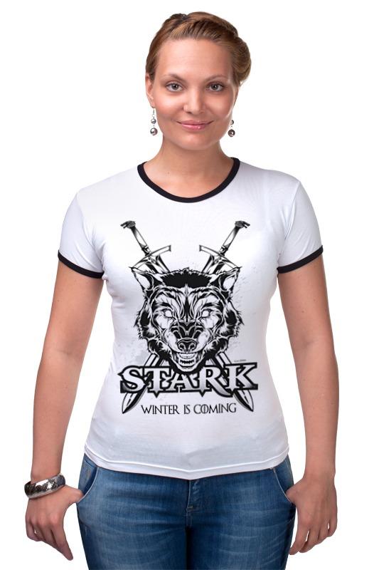 Футболка Рингер Printio Волк старков (игра престолов) футболка wearcraft premium printio игра престолов