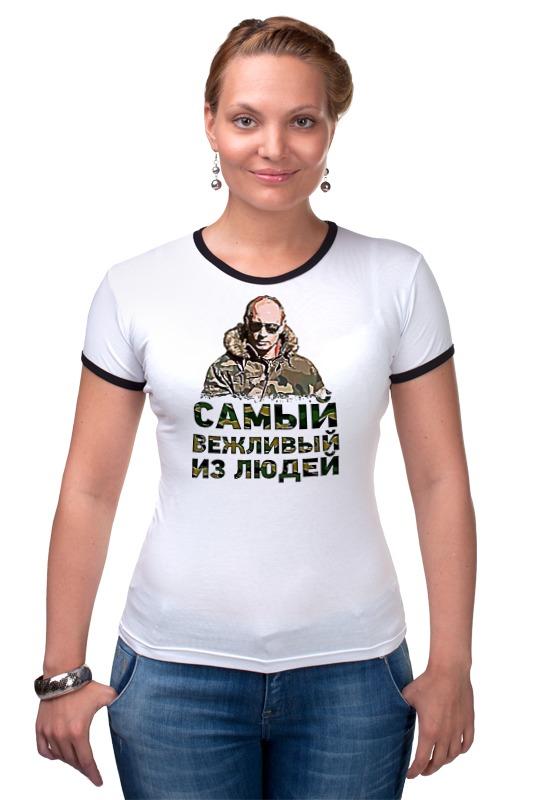 Футболка Рингер Printio Putin printio футболка рингер
