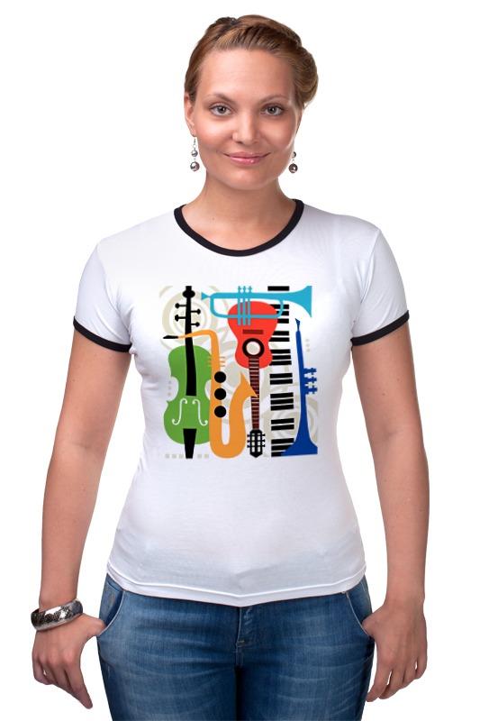 Футболка Рингер Printio Музыкальные инструменты музыкальные игрушки s s toys музыкальные инструменты