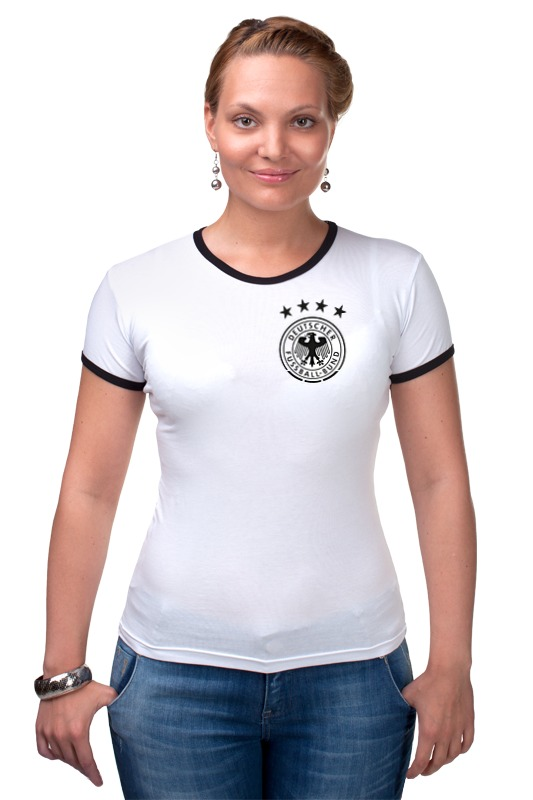 Футболка Рингер Printio Сборная германии по футболу 2016 лонгслив printio с пробегом по германии
