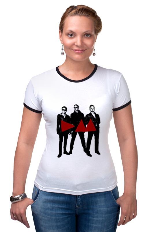 Футболка Рингер Printio Depeche mode - band stand футболка стрэйч printio depeche mode