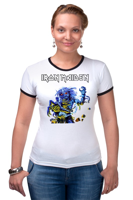 Футболка Рингер Printio Iron maiden band футболка для беременных printio iron maiden
